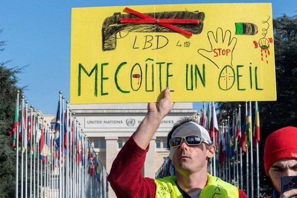 اعتراضات جلیقه زردها در مقابل مراکز رای گیری مجلس اروپا