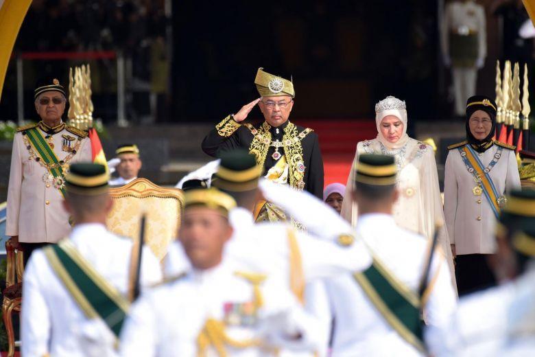 مراسم تاجگذاری پادشاه جدید مالزی