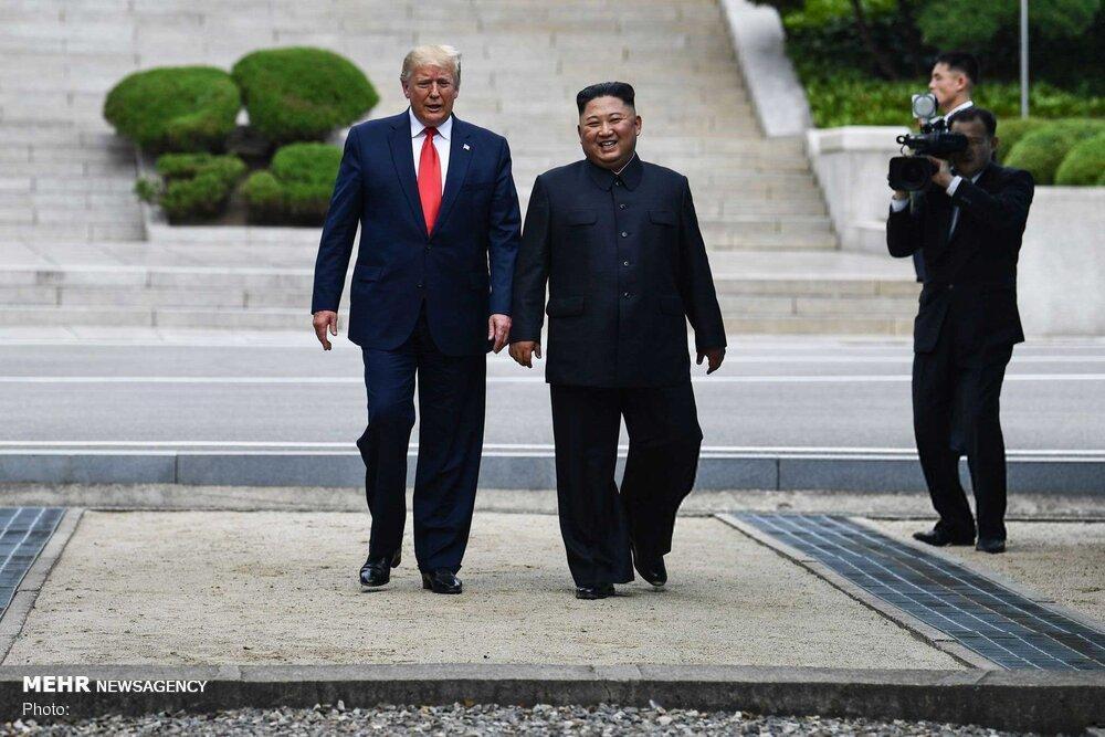 ترامپ: مردم کره به خاطر دیدارم با اون از خوشحالی اشک می ریختند!