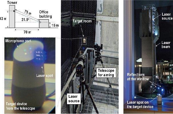 هک مخفی گوشی ها و بلندگوهای هوشمند با لیزر ممکن شد