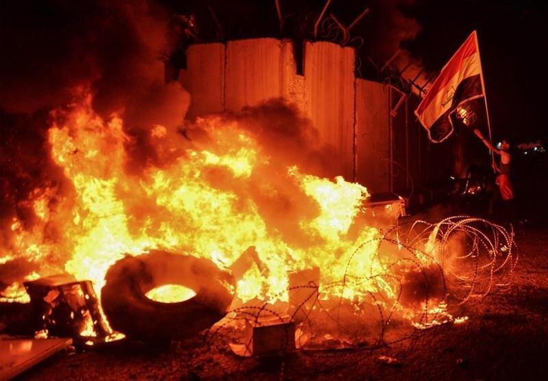 آتش سوزی امشب کنسولگری ایران در نجف اشرف باز هم تعرض بود؟