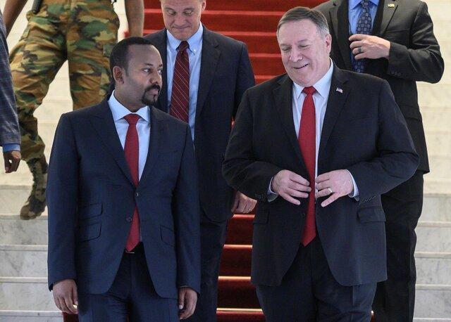 پامپئو با نخست وزیر اتیوپی ملاقات کرد