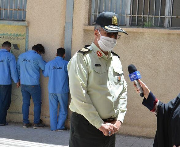 خبرنگاران 15 تن از اراذل و اوباش سابقه دار در کرمانشاه دستگیر شدند