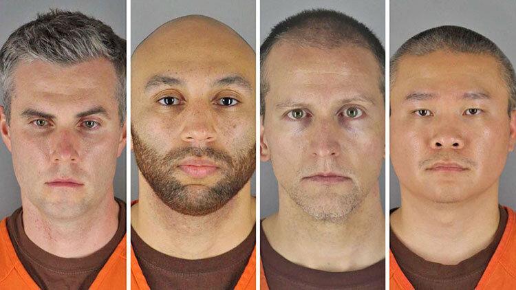 4 قاتل جورج فلوید در لباس زندان ، 160 سال حبس در انتظار متهمان