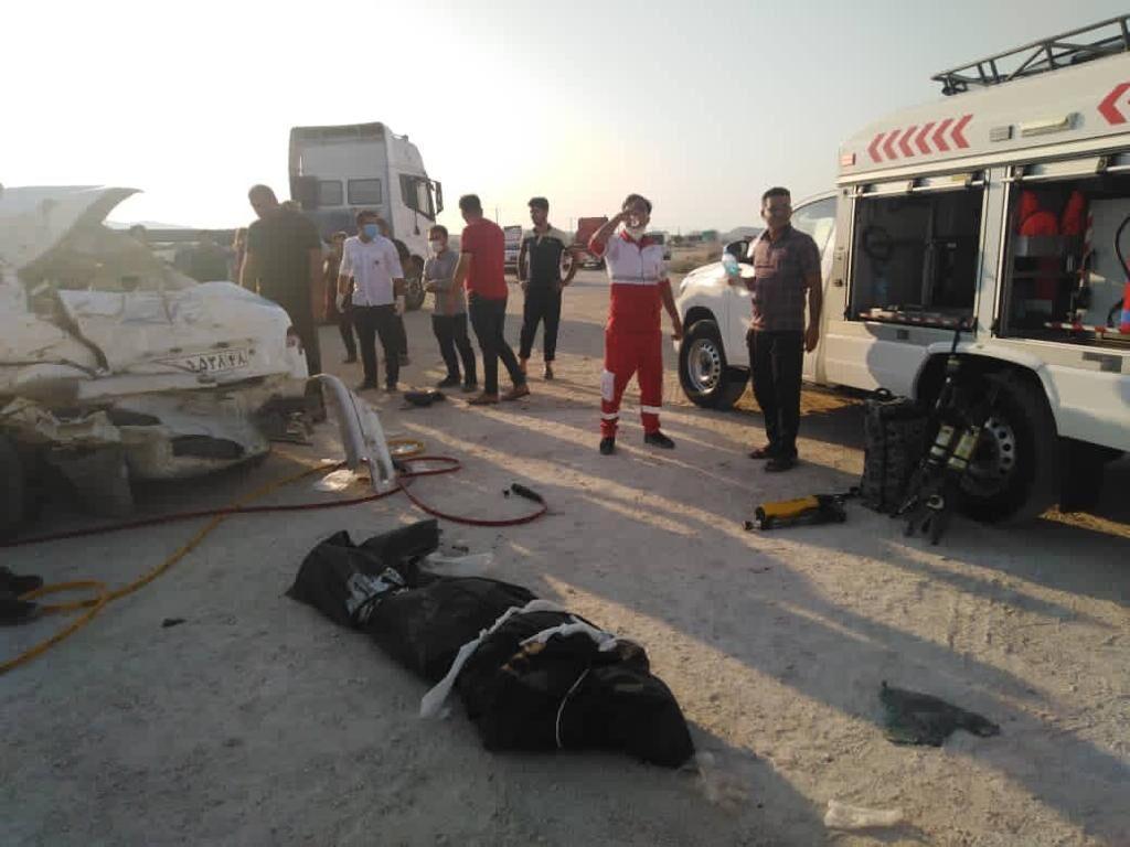 حادثه رانندگی در شهرستان دیر بوشهر 2 کشته برجای گذاشت