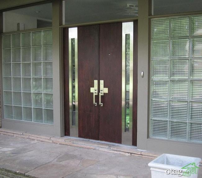 مدل درب ورودی ساختمان مسکونی ویلایی و آپارتمانی جدید و شیک