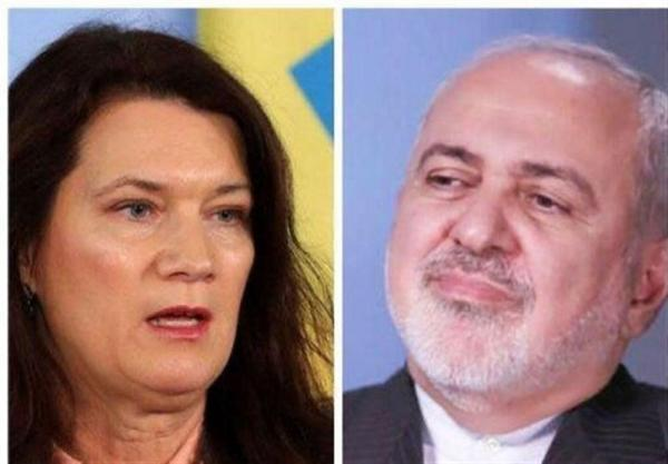 گفت وگوی تلفنی ظریف با وزیر خارجه سوئد