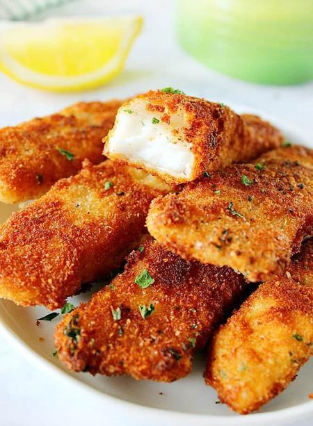 طرز تهیه ماهی سوخاری با پنیر پارمیزان