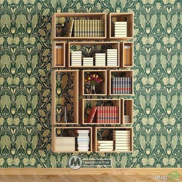انواع شلف دیواری و باکس چوبی