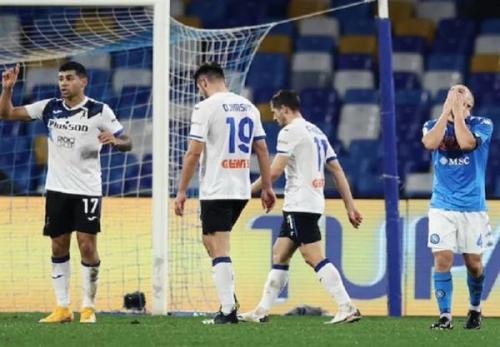 جام حذفی ایتالیا، ناپولی در خانه مقابل آتالانتا متوقف شد