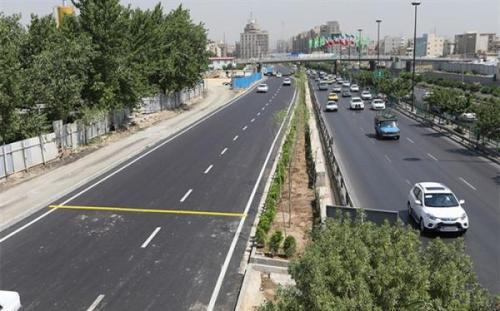 تردد روان در معابر شهر تهران