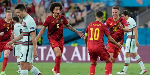زور یاران رونالدو به بلژیک نرسید، هازارد بازیکن برتر میدان