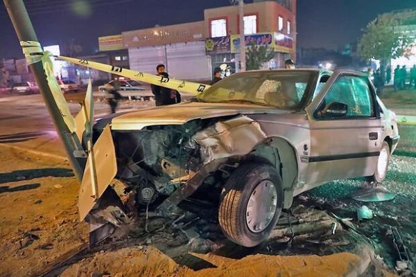 16 مصدوم در دو تصادف زنجیره ای در محور مشهد